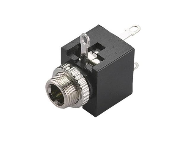 Plug Jack Tipo P2 Fêmea Stereo 3,5mm p/ Solda