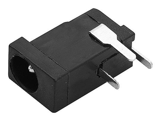 Plug Jack tipo P4 DC Fêmea 1mm arredondado p/ placa de circuito impresso