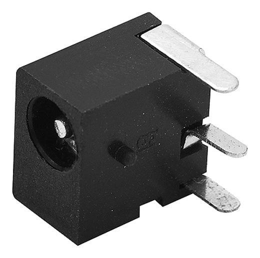 Plug Jack tipo P4 DC Fêmea 1mm p/ placa de circuito impresso