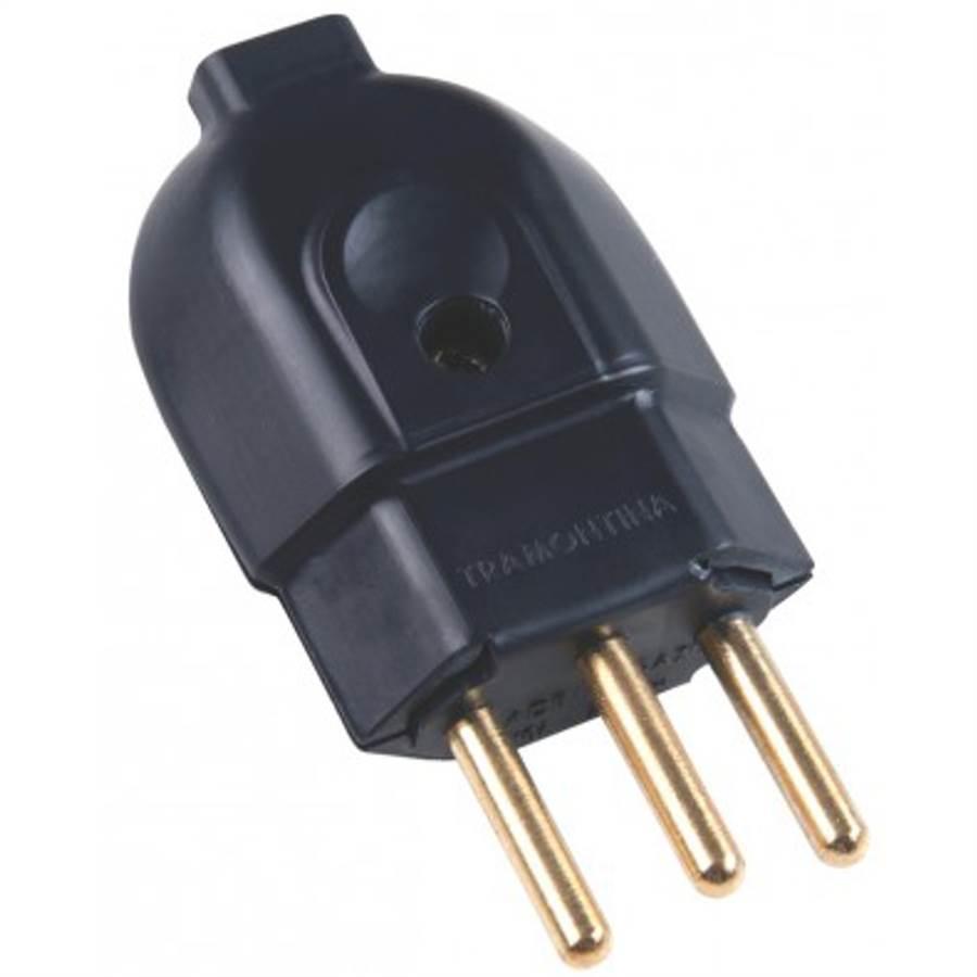 Plug Macho 3P 20A 250V Preto - Tramontina
