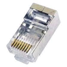 Plug Modular 8X8 RJ45 Cat.5E Rede Blindado (Unidade)
