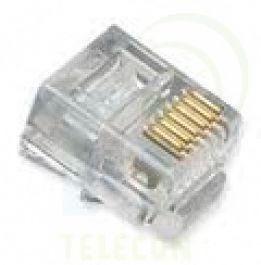 Plug Modular p/ Telefone RJ11 06 Vias x 06 Contatos (unitário)
