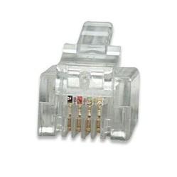 Plug Modular p/ Telefone RJ11 6 vias x 4 contatos 6P4C (UNITÁRIO)