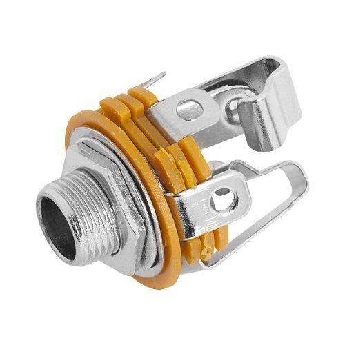 Plug P10 Jack Stero Fechado C/ Rosca  - Eletroinfocia
