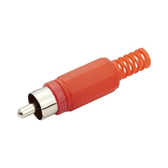 Plug RCA Macho Vermelho