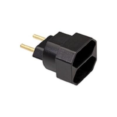 Plug T Padrão Novo 1X2 Preto