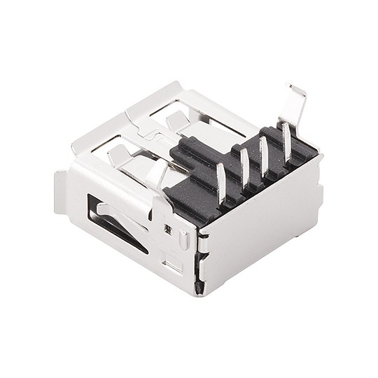 Plug USB A Fêmea Níquel Soldar DS1095-BNR0