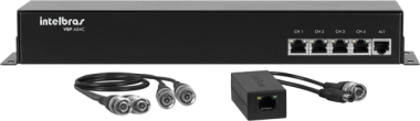 Power Conversor Vídeo Balun 4 Canais VBP A04C Intelbras
