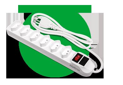 Protetor Eletrônico C/6 Tomadas EPE 1006 Intelbras  - Eletroinfocia