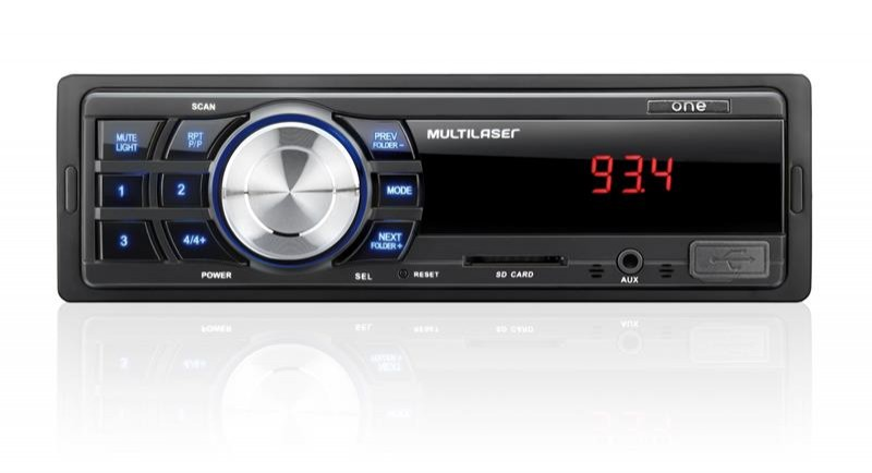 Rádio Automotivo One MP3 c/ USB E SD P3213 Multilaser