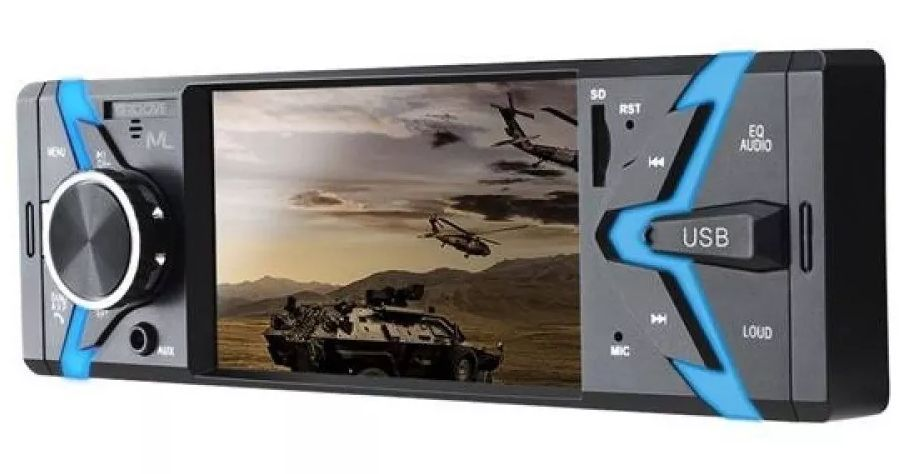 Radio Groove Bluetooth MP5 Tela 4 Pol. 4x45Wrms FM/SD/USB/AUX APP P3341 Multilaser