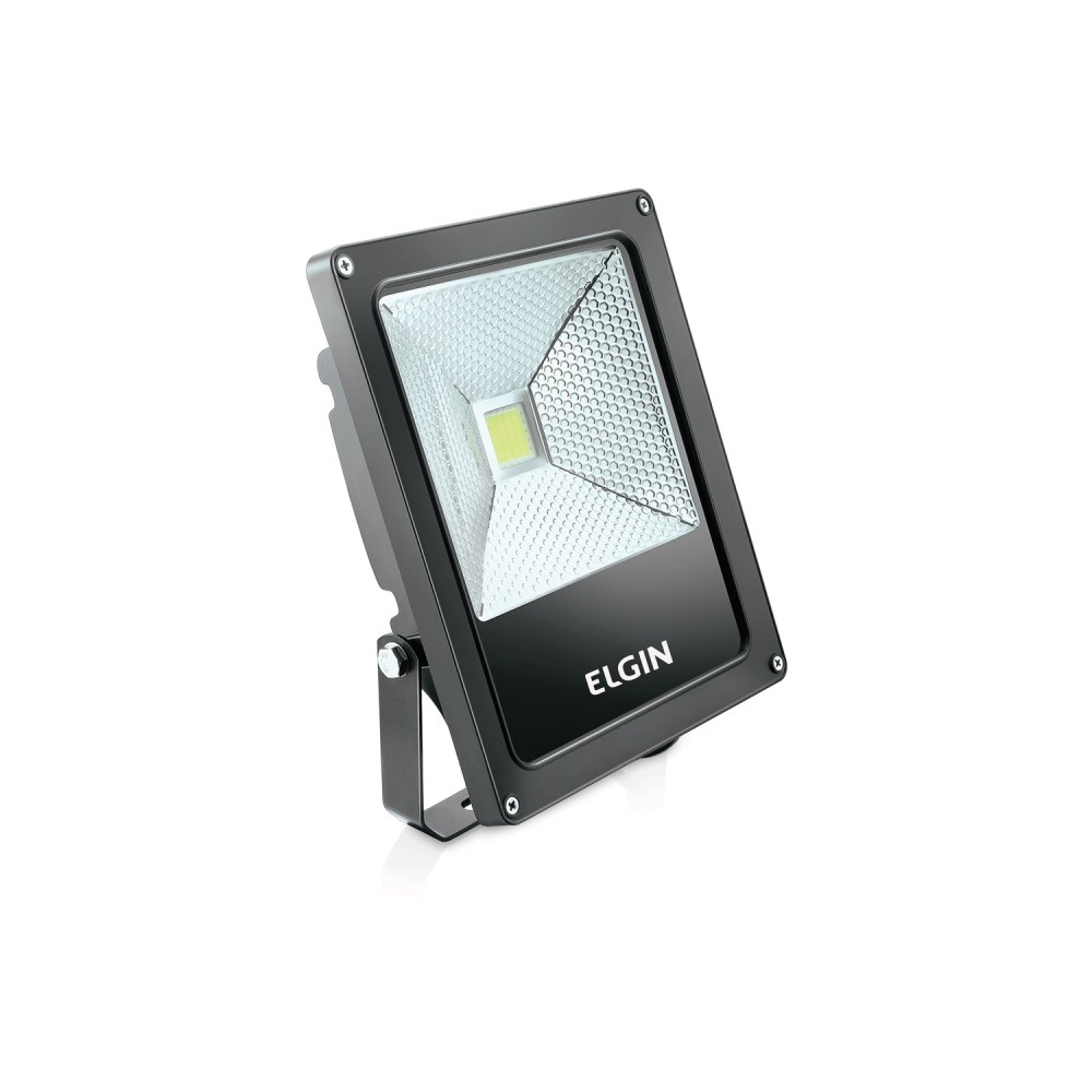 Refletor de Led 10W 6500K Preto Bi-volt Elgin