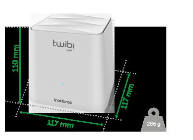 Roteador MESH TWIBI giga Intelbras  - Eletroinfocia