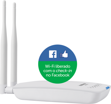 Roteador Wireless Hotspot 300 (Facebook) Intelbras  - Eletroinfocia
