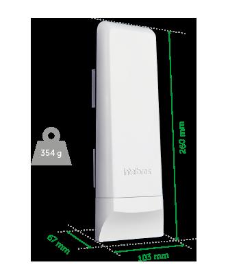 Roteador Wireless WOM 5A (CPE) 5Ghz/16Dbi Intelbras  - Eletroinfocia