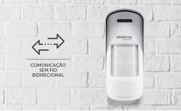 Sensor De Movimento Infravermelho Passivo S/Fio Ivp 8000 Ex Intelbras