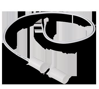 Sensor Magnético com Fio XAS Embutir (Kit 5 peças) Intelbras