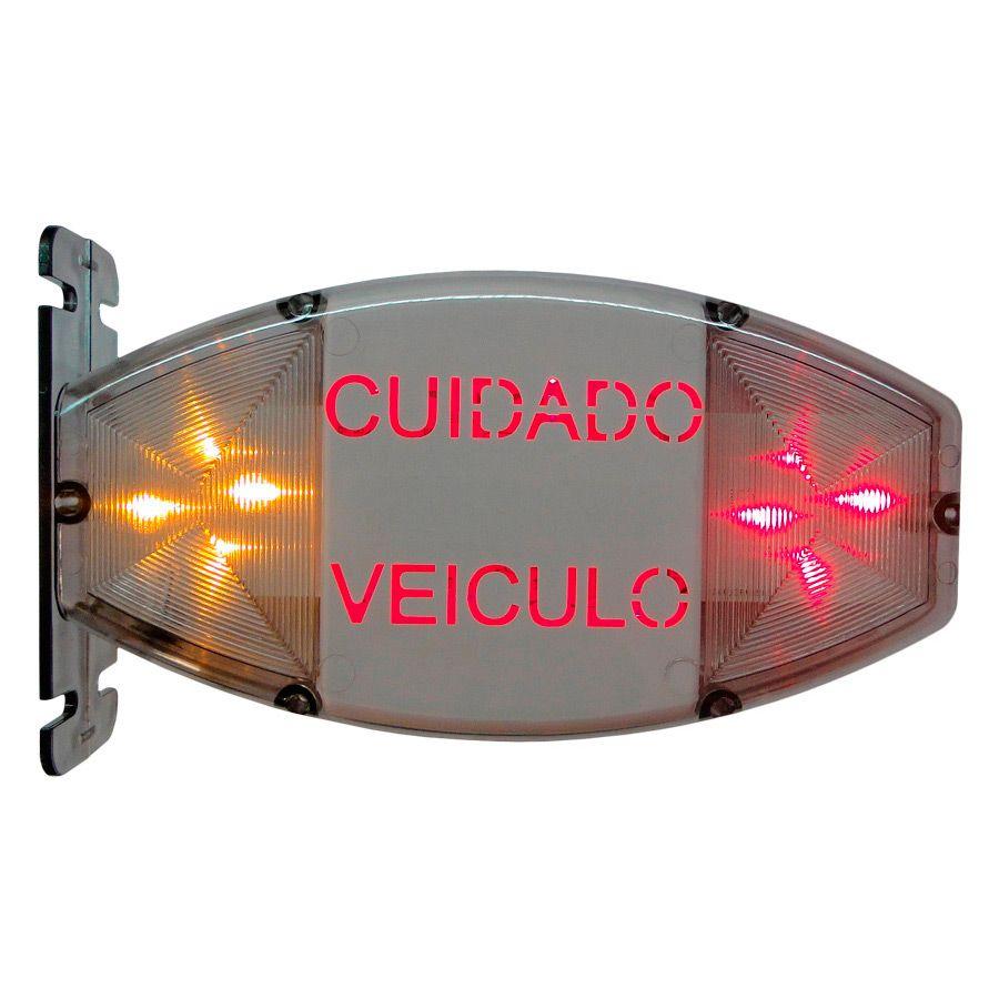 Sinaleira Audiovisual c/ Sensor Ilum. por Led Security Parts