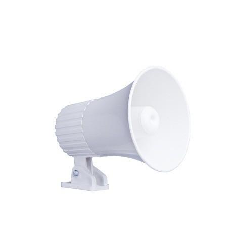 Sirene Corneta 3,5 pol. 12V Branca 15W MU-09 p/ Alarme Multitoc