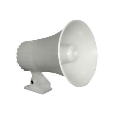 Sirene Corneta 5 pol. 12V Branca 20W MU-12 p/ Alarme Multitoc