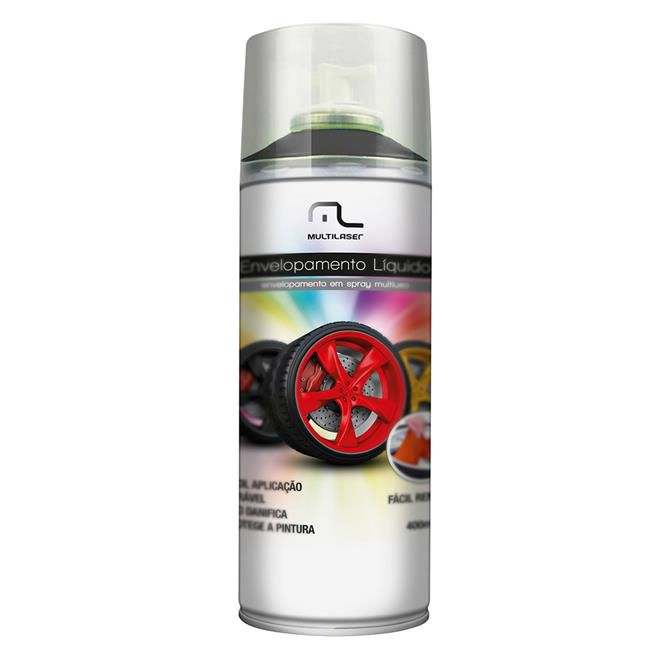 Spray Envelopamento Líquido Preto fosco 400ml AU420 Multilaser  - Eletroinfocia