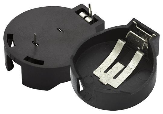 Suporte p/ Pilhas CR2430/2450/2477 p/ placas de circuito impresso