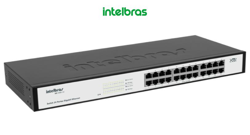 Switch 24 Portas Sg 2400 Qr Gigabit C/Qos Intelbras