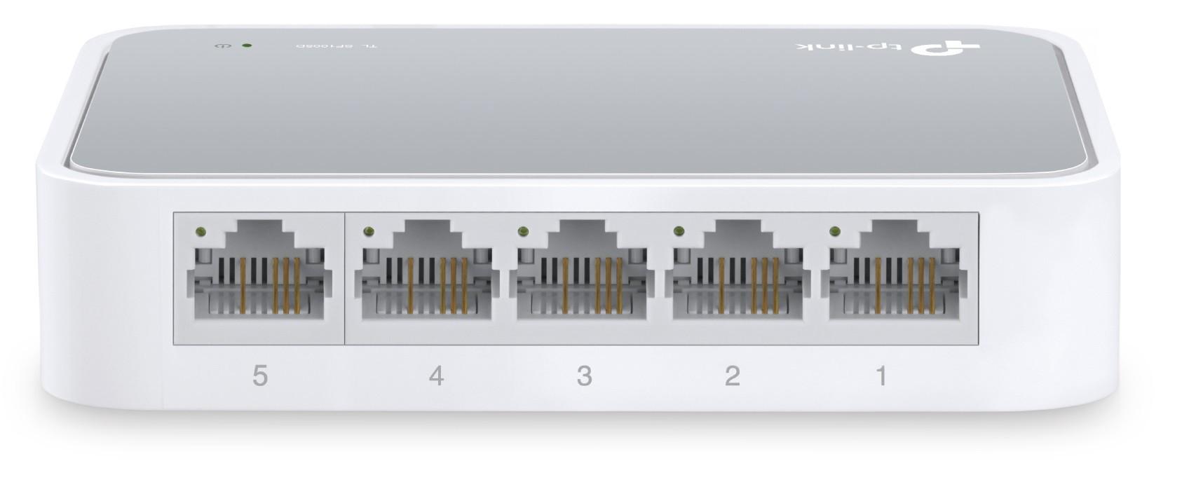 Switch 5 Portas JetStream 05 10/100 L2 NG TL-SF1005D TP-Link   - Eletroinfocia