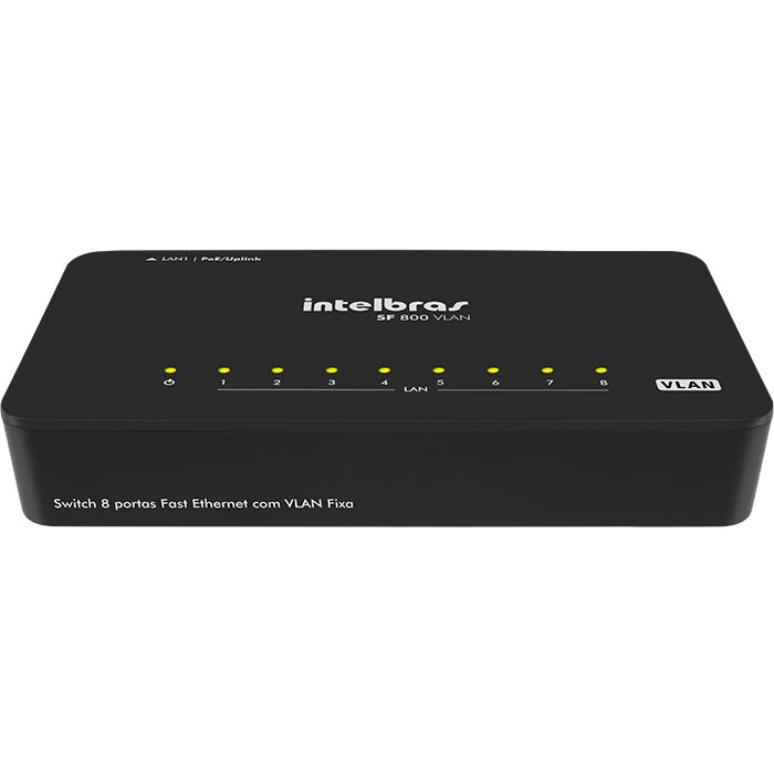 Switch 8 Portas Sf 800 Vlan (Poe) Fast Ethernet Intelbras  - Eletroinfocia