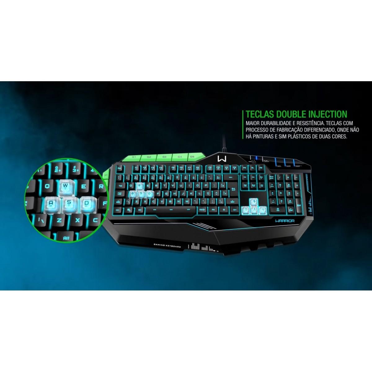 Teclado profissional gamer preto c/ verde led USB TC199 Multilaser  - Eletroinfocia