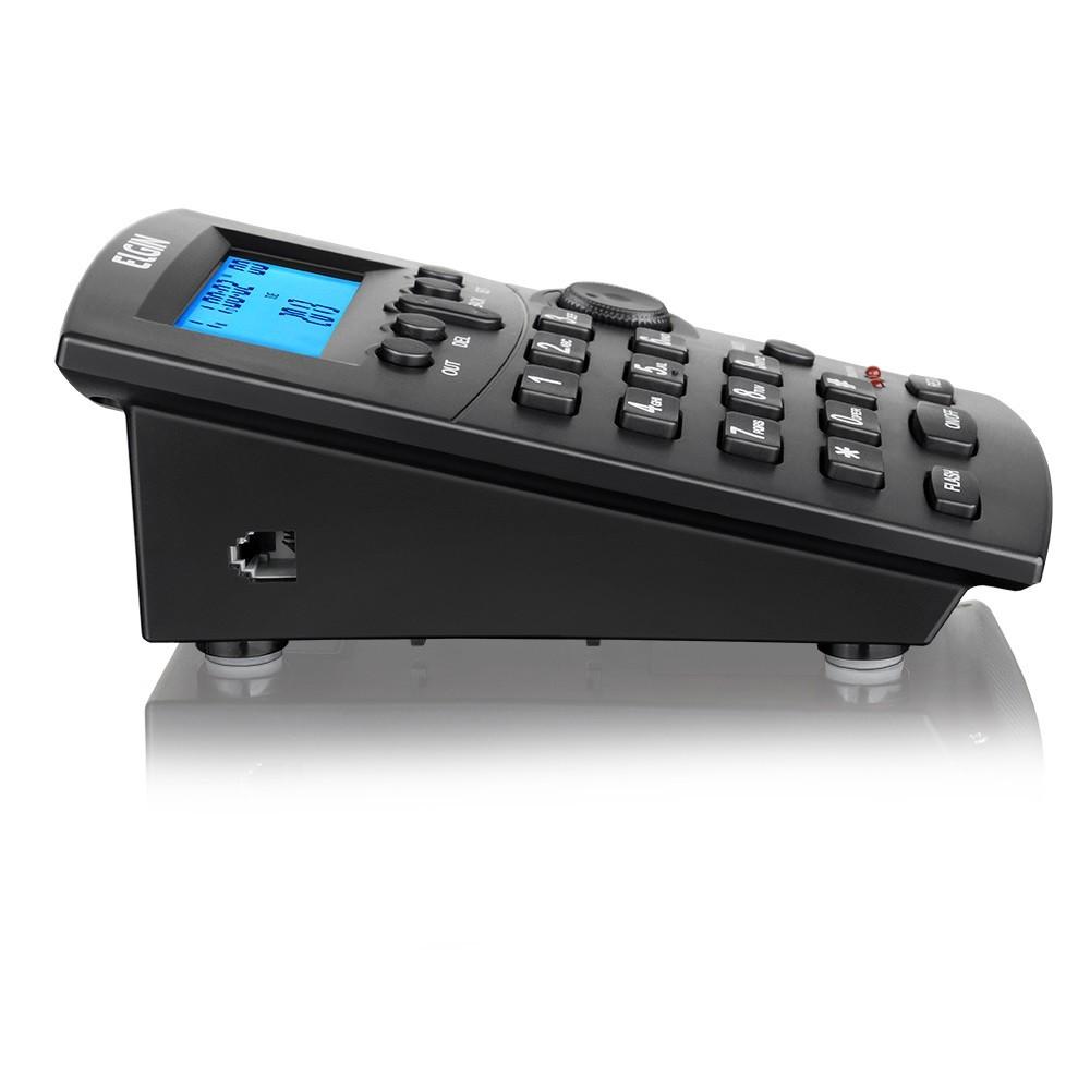 Telefone Headset c/ Base Discadora e Identificador Preto HST8000 Elgin  - Eletroinfocia
