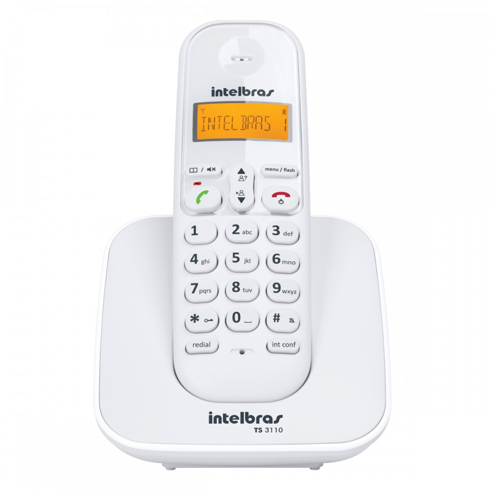 Telefone Sem Fio TS 3110 (Branco) Intelbras