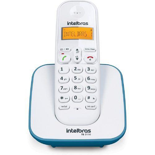 Telefone Sem Fio TS 3110 (Branco e Azul) Intelbras