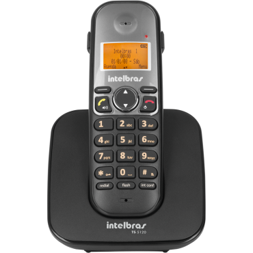 Telefone Sem Fio Ts 5120 (Preto) Intelbras  - Eletroinfocia