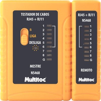 Testador De Cabo De Rede NS-468 RJ11 / RJ45 Multitoc