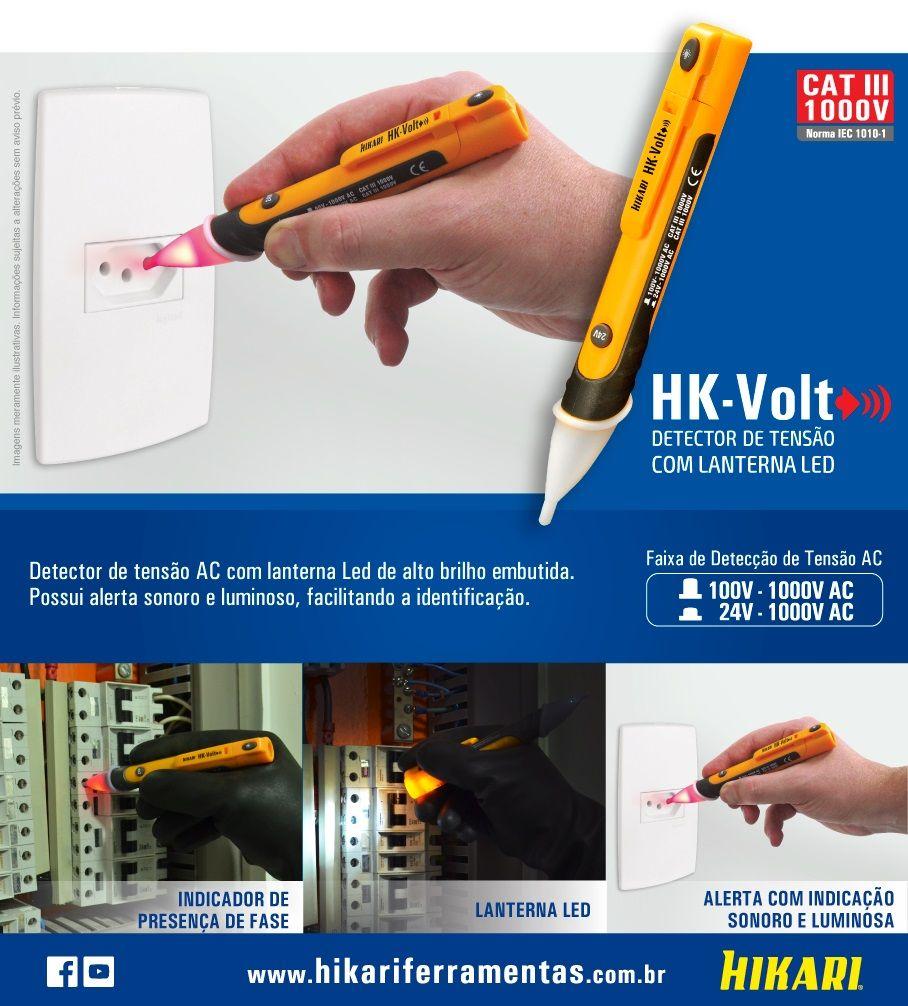 Testador de Tensão HK-VOLT HK-VOLT 21N066 Hikari  - Eletroinfocia