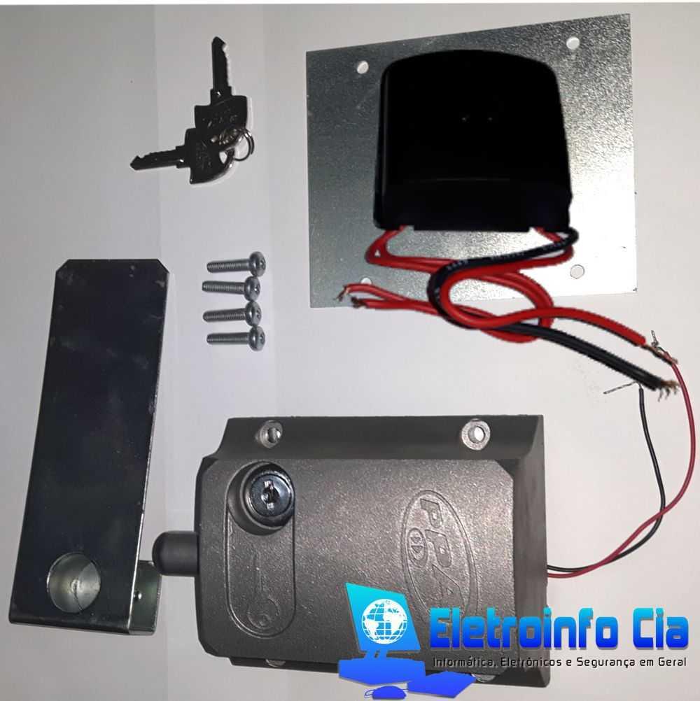 Trava Eletromagnética p/ Portão Eletrônico c/ Temporizador DOG PPA  - Eletroinfocia
