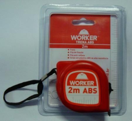 Trena 2M ABS Vermelha Worker  - Eletroinfocia