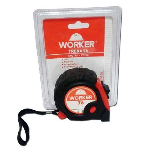 Trena 5M X 19MM Emborrachado Worker