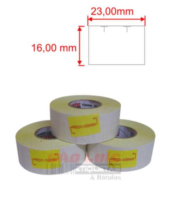 Etiqueta para Etiquetadora Manual MX-2316 100 rolos - SÃO LUIS ETIQUETAS BOBINAS E RÓTULOS