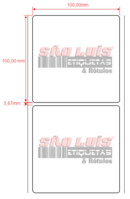 Etiqueta Endereçamento 100X100 09 rolos - SÃO LUIS ETIQUETAS BOBINAS E RÓTULOS