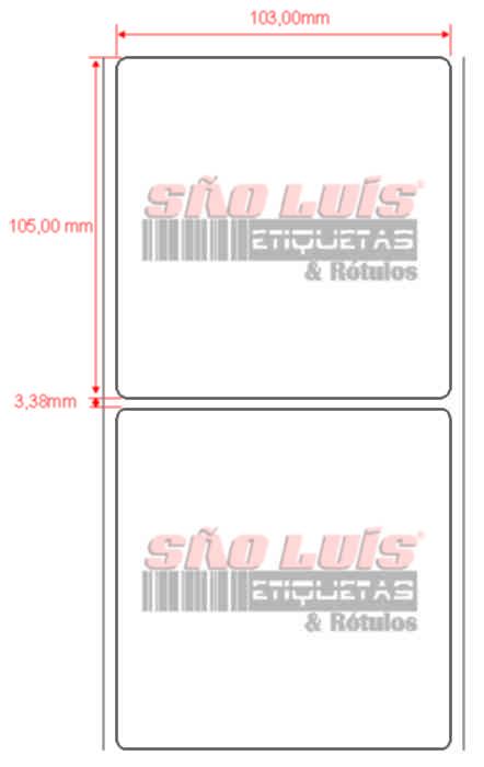 Etiqueta Endereçamento 103X105 09 rolos - SÃO LUIS ETIQUETAS BOBINAS E RÓTULOS
