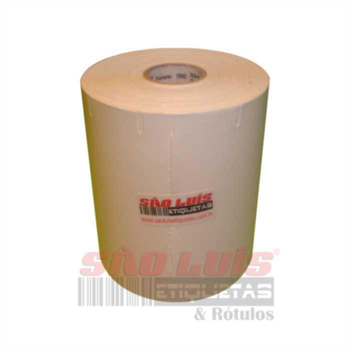 Etiqueta para Gondola 107X30 Cartão Branco 09 rolos - SÃO LUIS ETIQUETAS BOBINAS E RÓTULOS