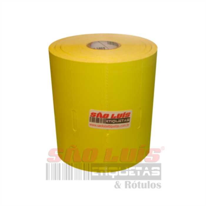 Etiqueta para Gondola 110X30 Cartão Amarelo 09 rolos - SÃO LUIS ETIQUETAS BOBINAS E RÓTULOS