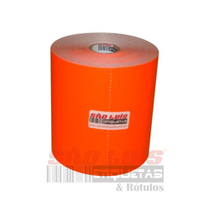 Etiqueta para Gondola 107X30 Adesivo Fluorescente Vermelho 09 rolos - SÃO LUIS ETIQUETAS BOBINAS E RÓTULOS