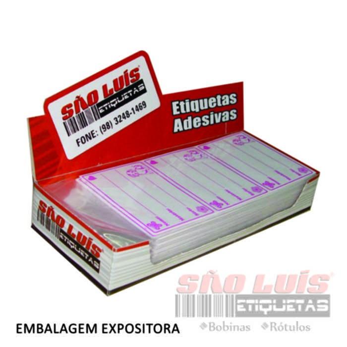 Etiqueta Escolar SE 31 com 50 Cartelas Contendo 12 Etiquetas - SÃO LUIS ETIQUETAS BOBINAS E RÓTULOS