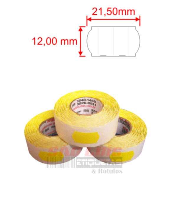 Etiqueta para Etiquetadora Manual OPEN P-6 Personalizado 200 rolos - SÃO LUIS ETIQUETAS BOBINAS E RÓTULOS