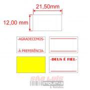 Etiqueta para Etiquetadora Manual MX-5500 100 rolos - SÃO LUIS ETIQUETAS BOBINAS E RÓTULOS