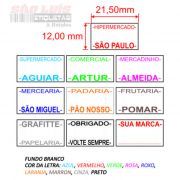 Etiqueta para Etiquetadora Manual MX-5500 Personalizada 200 rolos