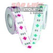 Bobina para Dispensador de Senhas Manual Bico de Pato 2 Dígitos 00 À 99 c/ 05 Unidades